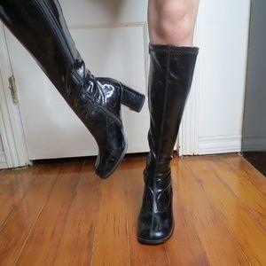 Black Patent Go Go Boots